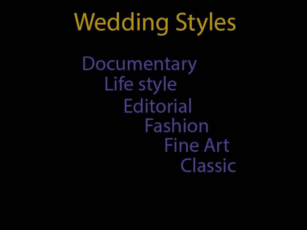 סגנונות צילום בחתונה